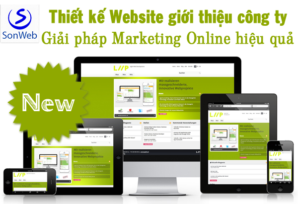 thiet ke website gioi thieu san pham bang wordpress